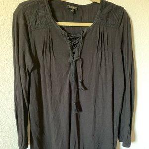 Lucky Brand black long sleeve top